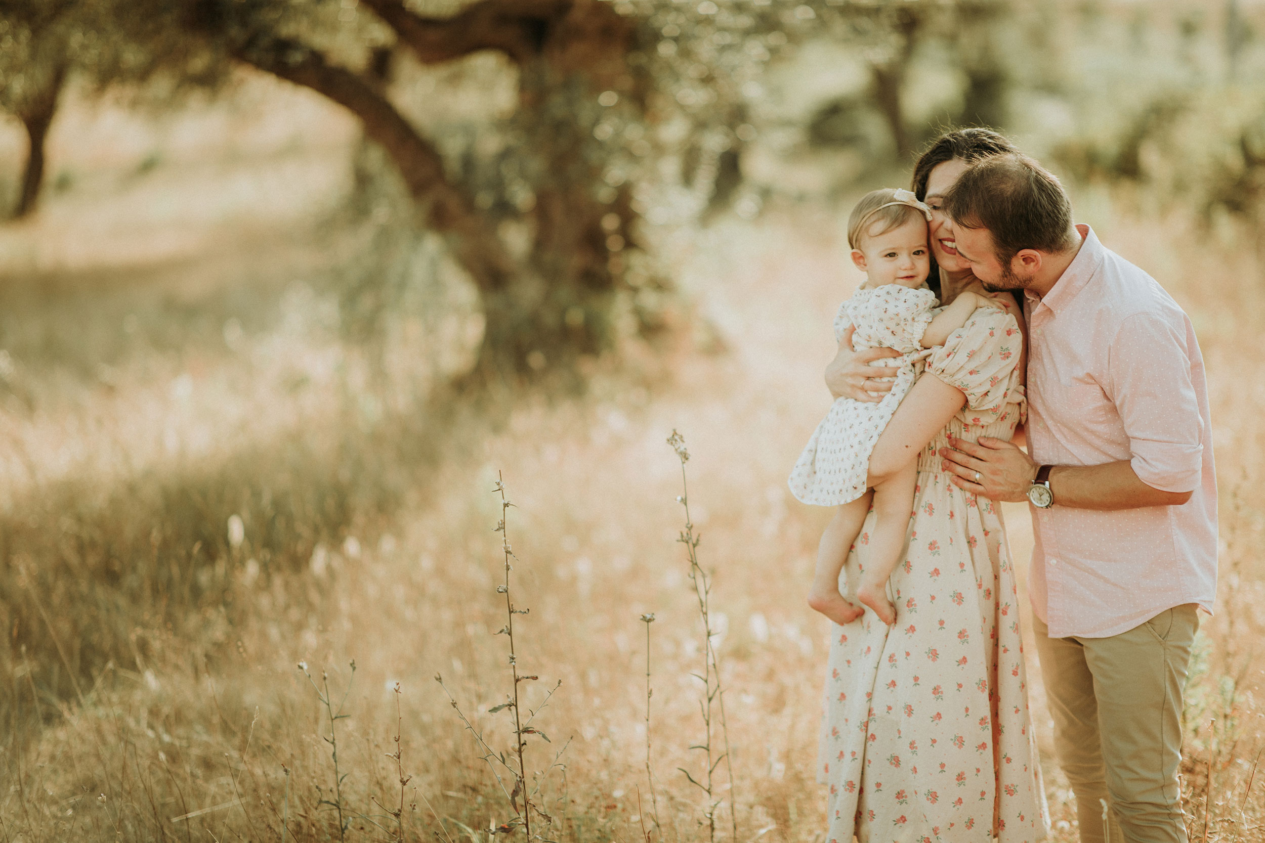 A family of three nature photoshoot