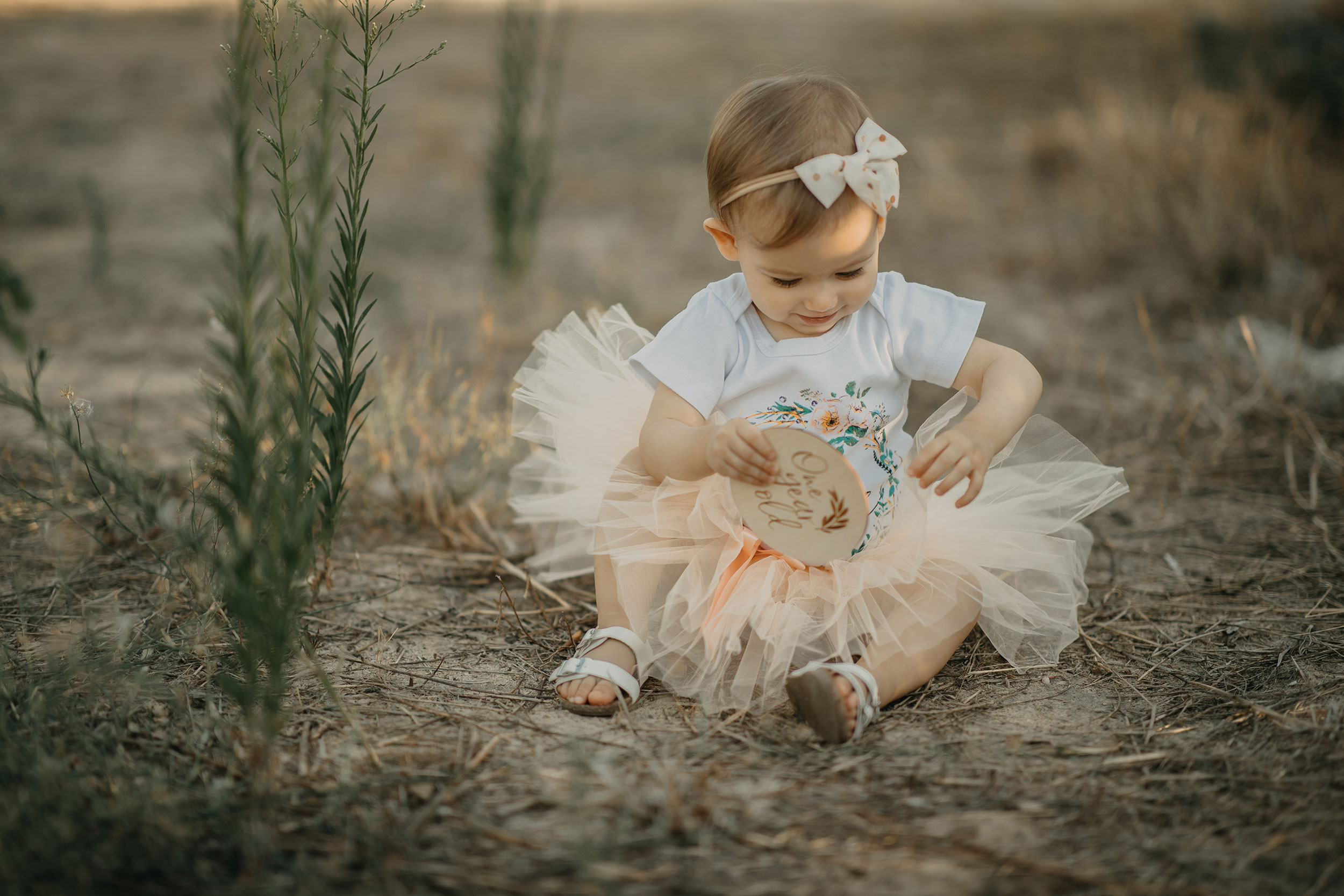 Beautiful baby playing during the photoshoot