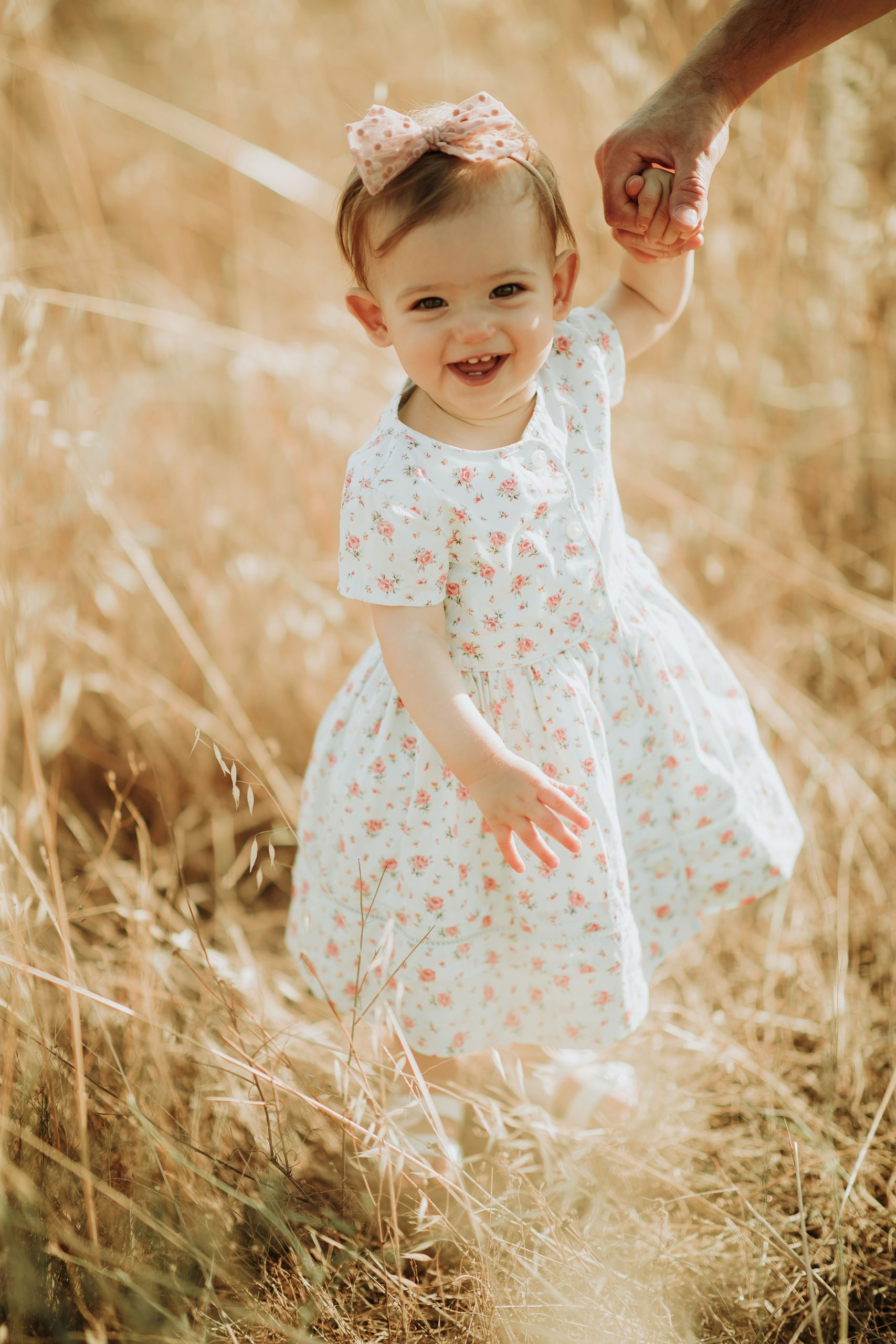 Beautiful baby smiling at the camera