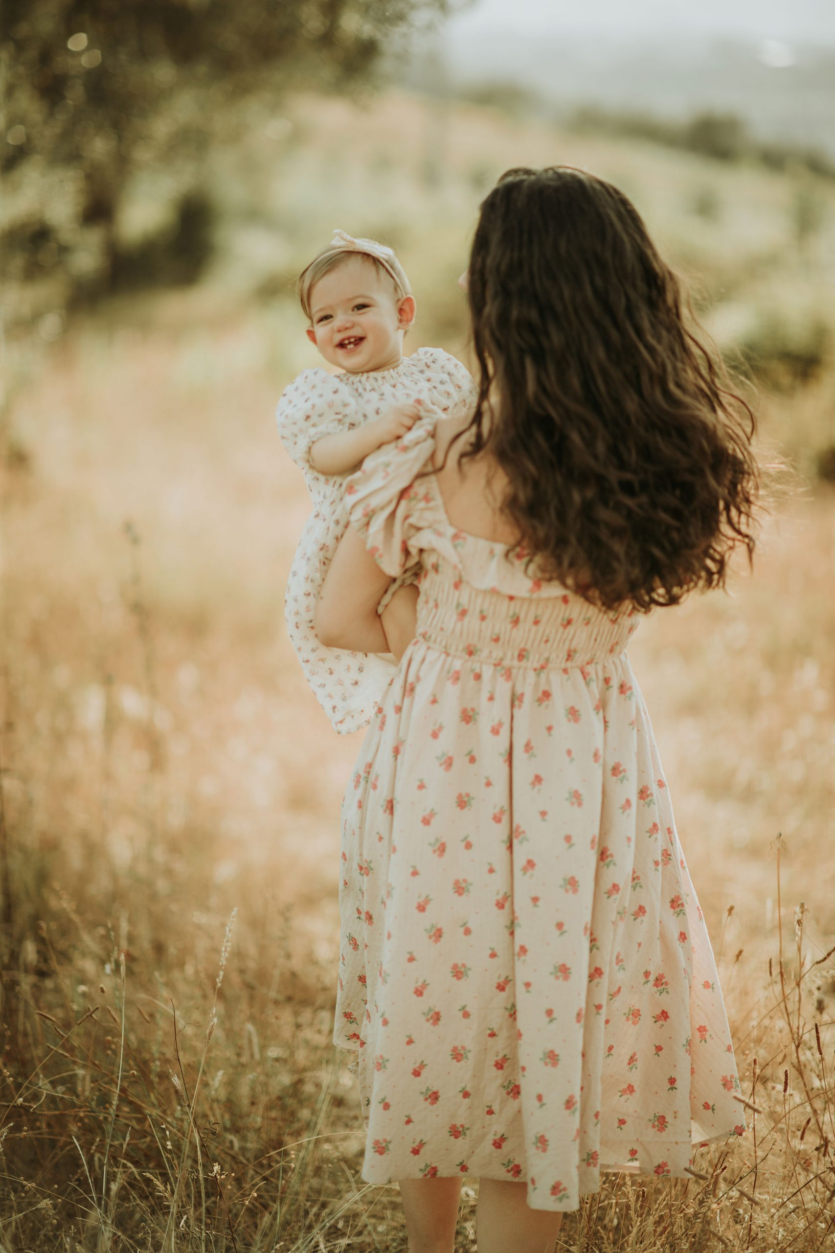 Mother and daughter nature photoshoot