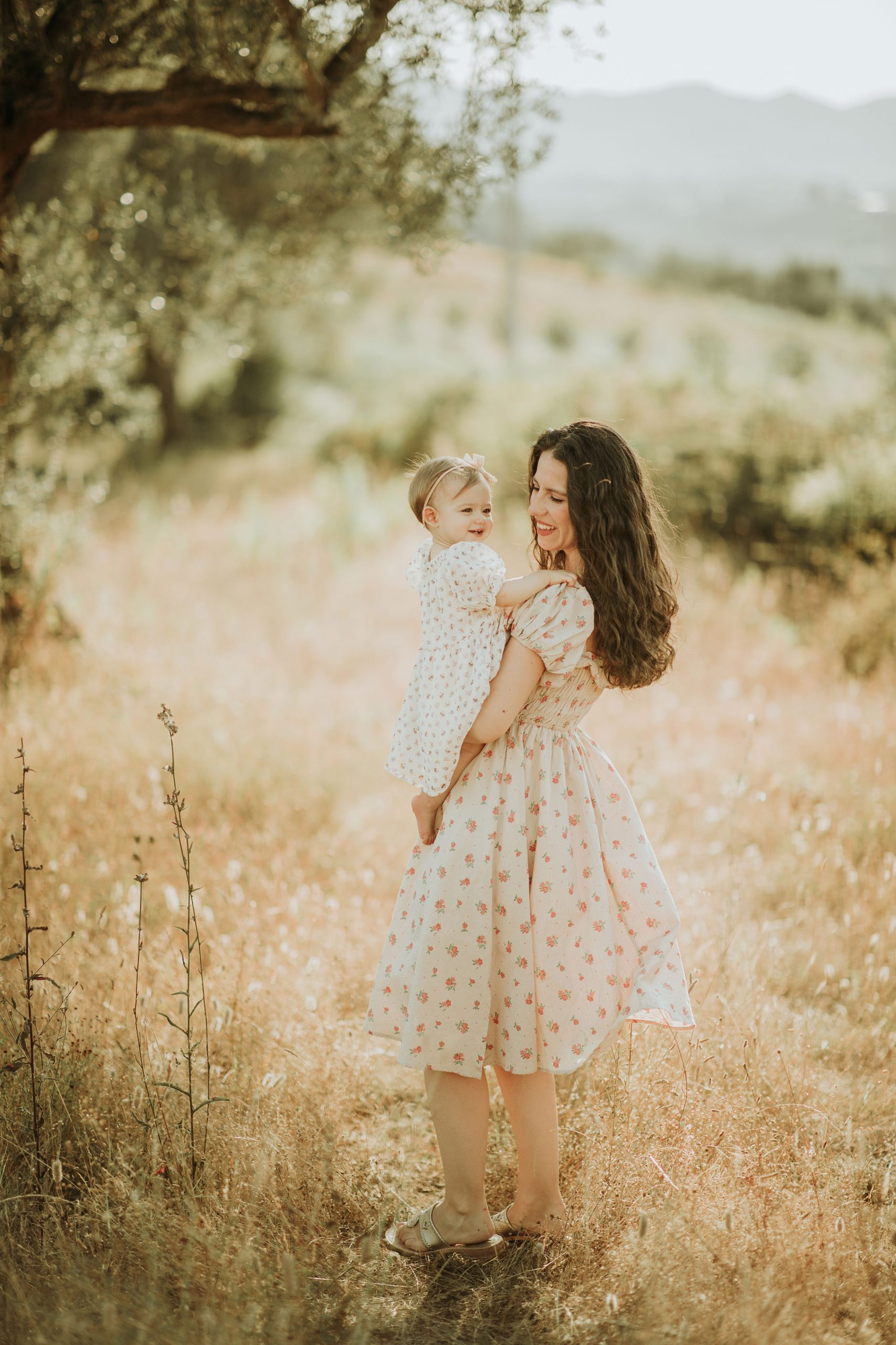 Mother and daughter outdoor photoshoot